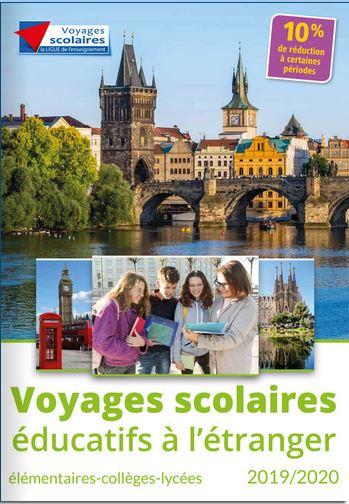 Voyages scolaires éducatifs à l'étranger 2018-2019