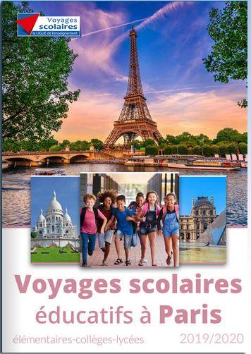 Voyages scolaires éducatifs Paris 2018-2019