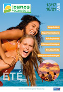 Vacances jeunes, de 13 à 21 ans, été 2020